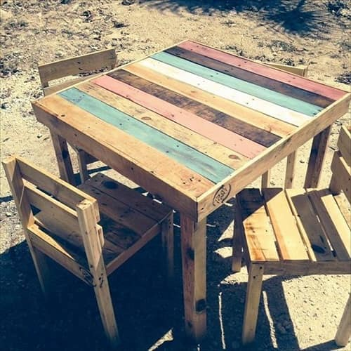 wood pallet dining table ideas 10-min