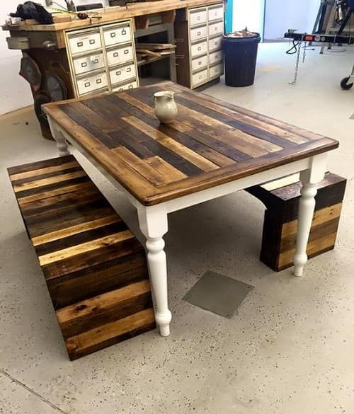 wood pallet dining table ideas 2-min