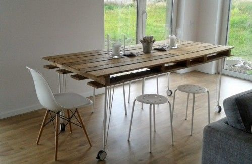 wood pallet dining table ideas 3-min