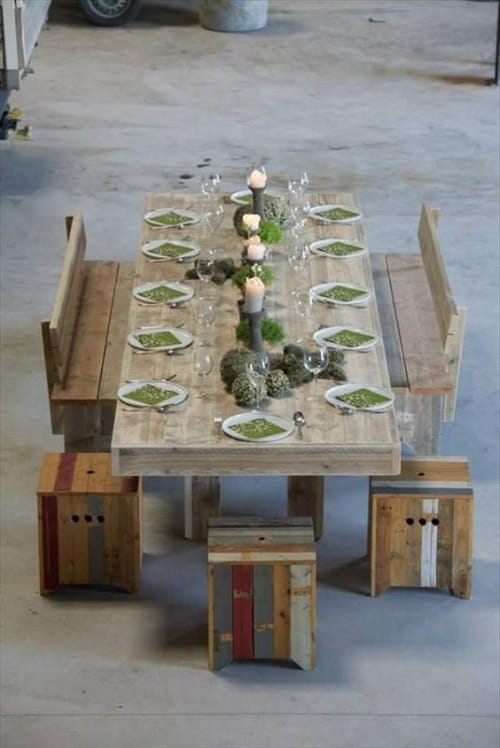 wood pallet dining table ideas 7-min