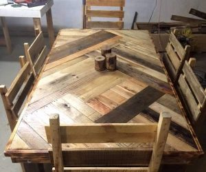 wood pallet dining table ideas-min