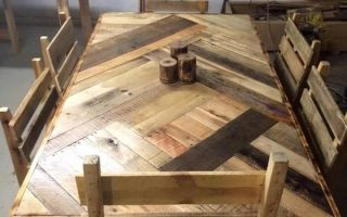wood pallet dining table ideas-min