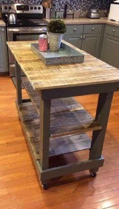 15 Creative Gorgeous Wood Pallet Kitchen Island Ideas