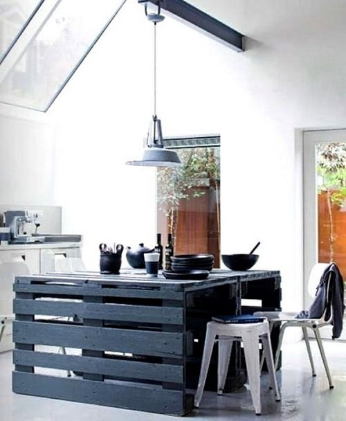 wood pallet kitchen island 10