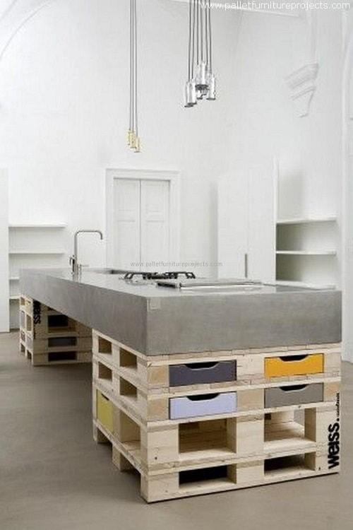 wood pallet kitchen island 13