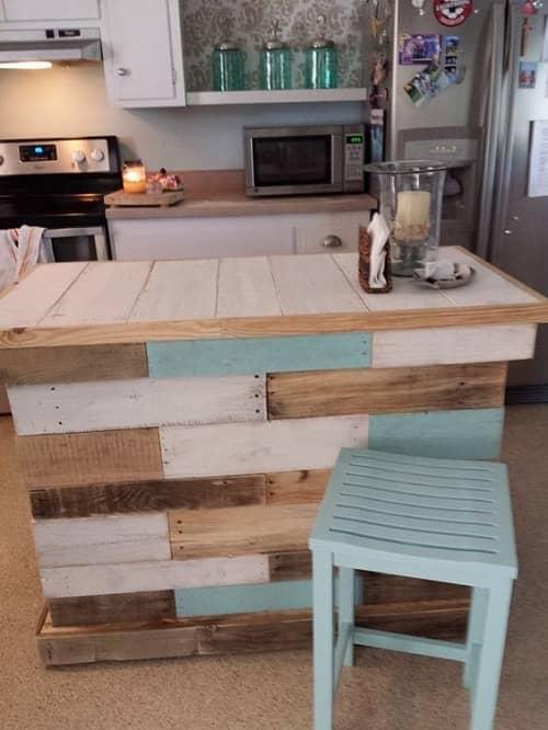 wood pallet kitchen island 3