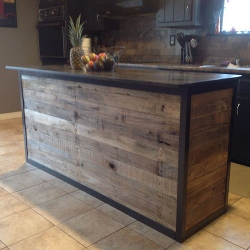 Ilot En Bois: 15+ Creative & Gorgeous Wood Pallet Kitchen Island Ideas