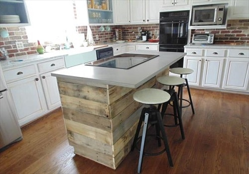 wood pallet kitchen island 6