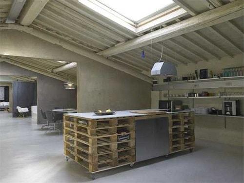 wood pallet kitchen island 7