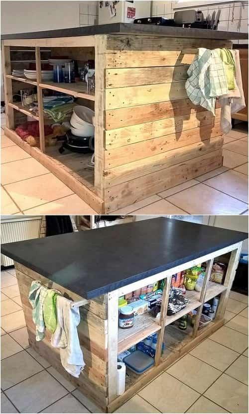 wood pallet kitchen island 9