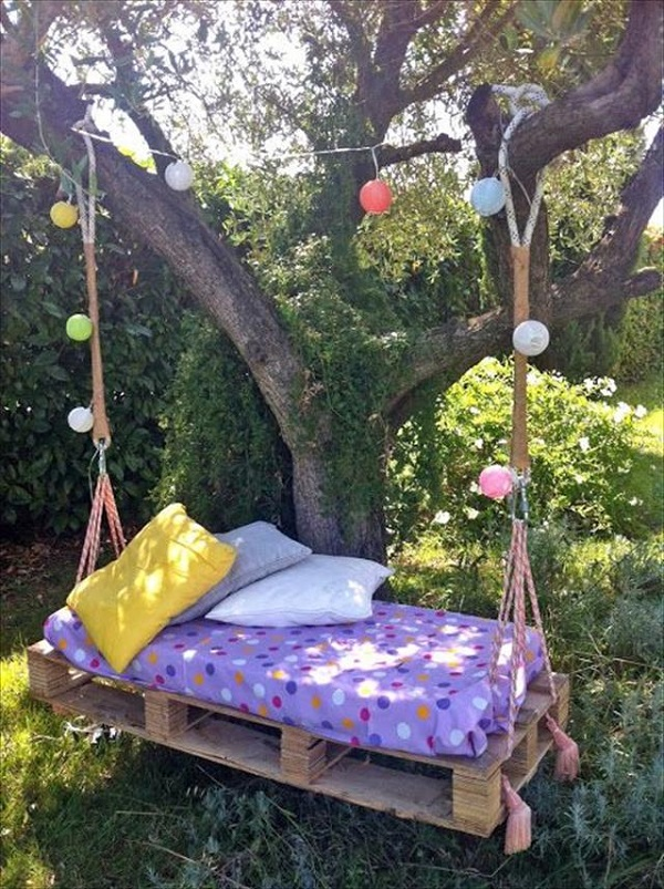 wood pallet swing ideas top