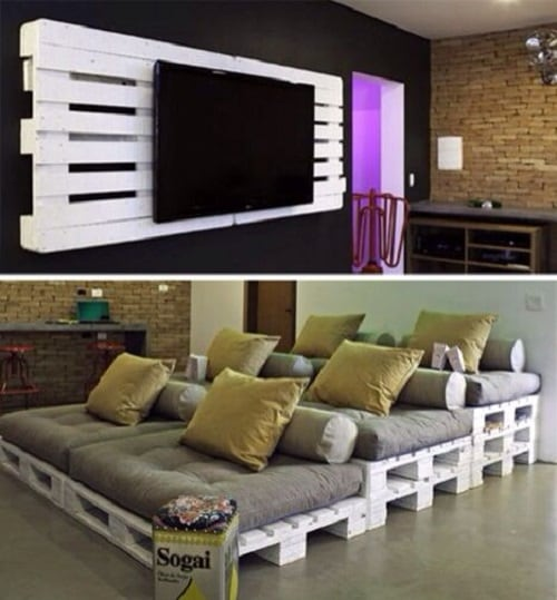 wood pallet wall decoration ideas 20