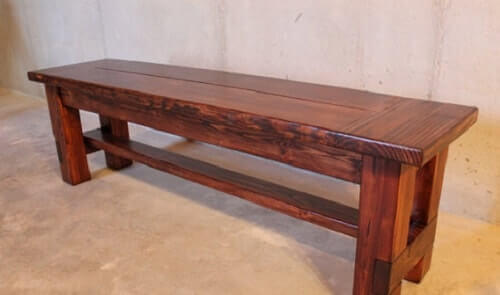 wooden bench for kitchen table 13