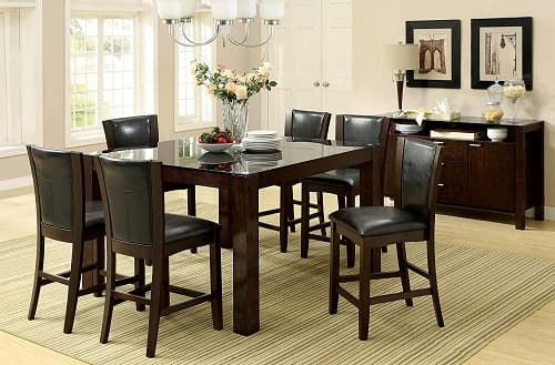 First Class  Piece Counter Height Dining Room Sets On Amazon - 7 piece counter height dining room sets