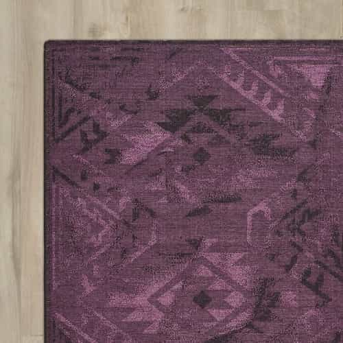 Circinus Machine Woven Purple Rug
