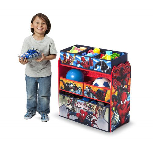 Spiderman Bedroom Furniture | Spiderman Multi-Bin Toy Organizer