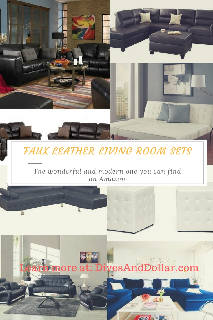 top 5 wonderful modern faux leather living room sets on 74020