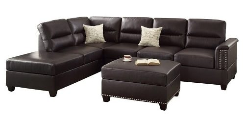 Modern Faux Leather Living Room Sets 1