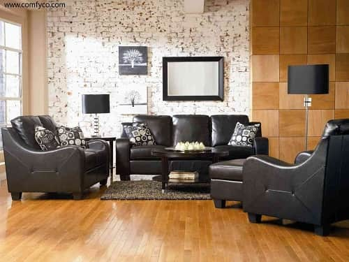 top 5 wonderful modern faux leather living room sets on amazon. Black Bedroom Furniture Sets. Home Design Ideas