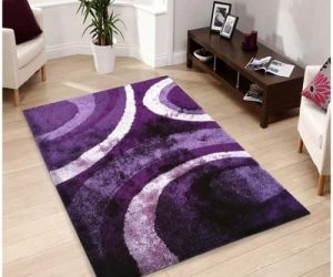 Handtufted Purple Shag Rug 3