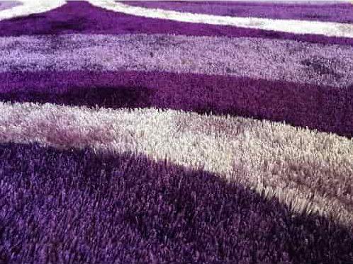 Handtufted Purple Shag Rug 3