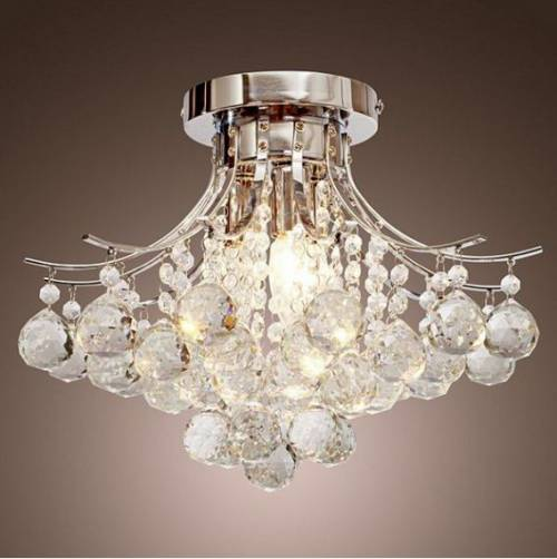 Homcom 3 Lights Ceiling Chandelier Pendant Crystal Light