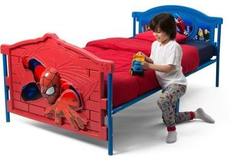 Spiderman Bedroom Furniture | Marvel Spiderman 3D Twin Bed Review