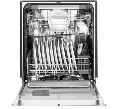 White Front Control Dishwasher 2