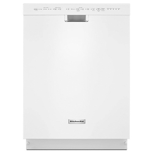 White Front Control Dishwasher