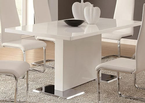 modern white dining room table 1
