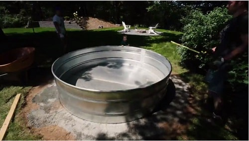 how to build stock tank pool 4-min