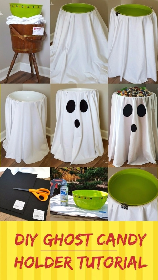 Easy and Cheap DIY Halloween Project: DIY Ghost Candy Holder Tutorial