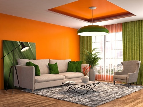 Orange And Green Living Room. Green Living Room Part 56