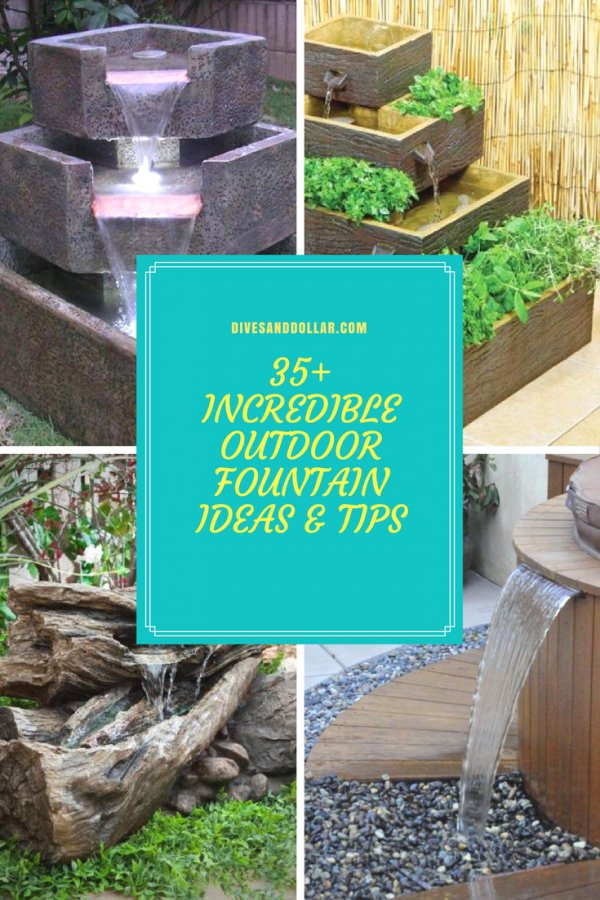 35+ Incredible Outdoor Fountain Ideas & Tips for Your Backyard on rustic gardening, garden fountains, beautiful backyard fountains, classic backyard fountains, tropical backyard fountains, modern backyard fountains, unique backyard fountains, elegant backyard fountains, large backyard fountains, wood backyard fountains, small backyard fountains, bird baths and fountains,