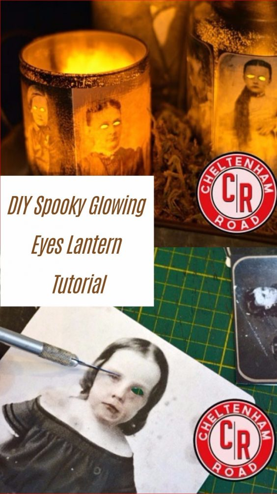 Easy and Cheap DIY Halloween Project: DIY Spooky Glowing Eyes Lantern Tutorial