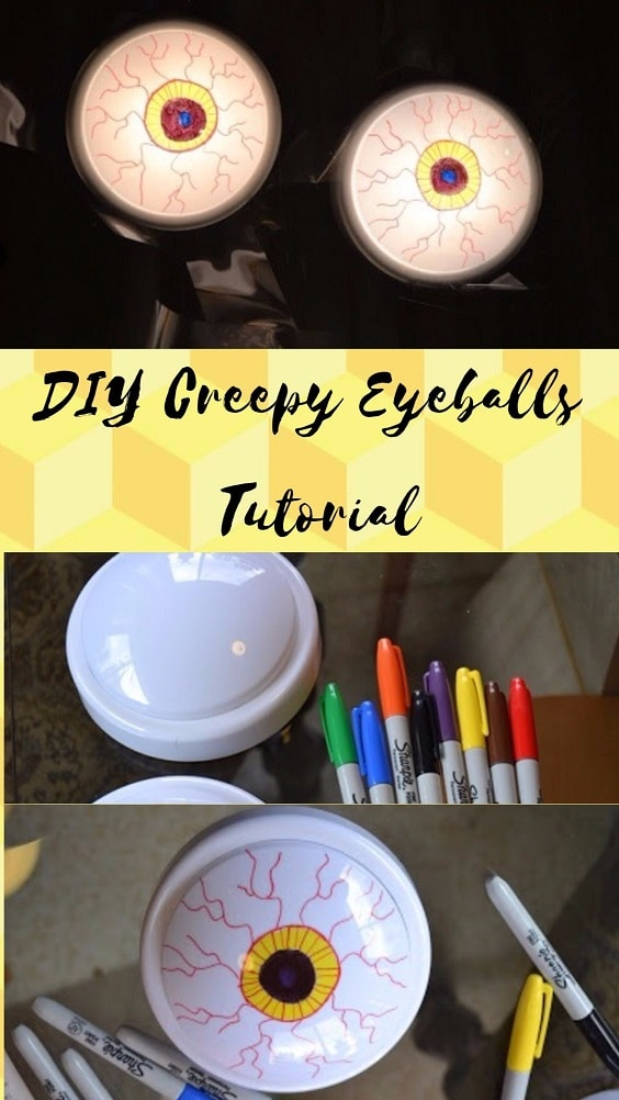 Easy and Cheap DIY Halloween Project: DIY Creepy Eyeballs Tutorial