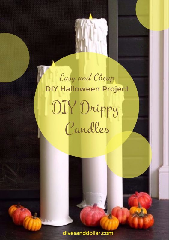 Easy and Cheap DIY Halloween Project: DIY Drippy Candles Tutorial