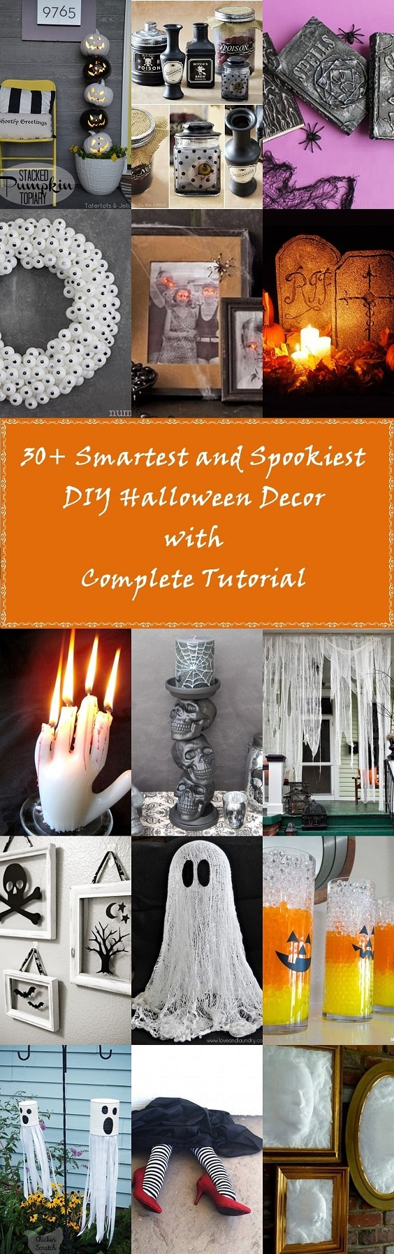 30+ Smartest and Spookiest DIY Halloween Decor with Complete Tutorial