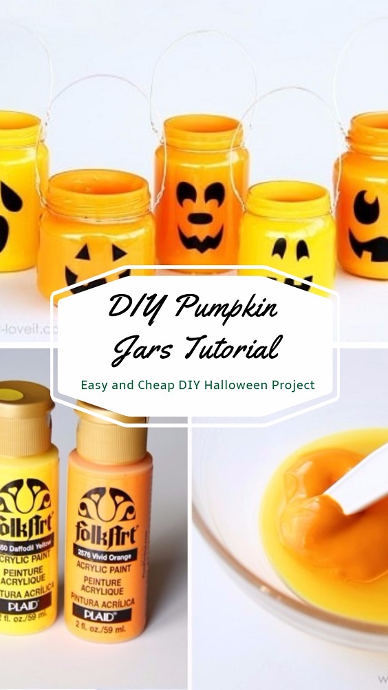 Easy and Cheap DIY Halloween Project: DIY Pumpkin Jars Tutorial