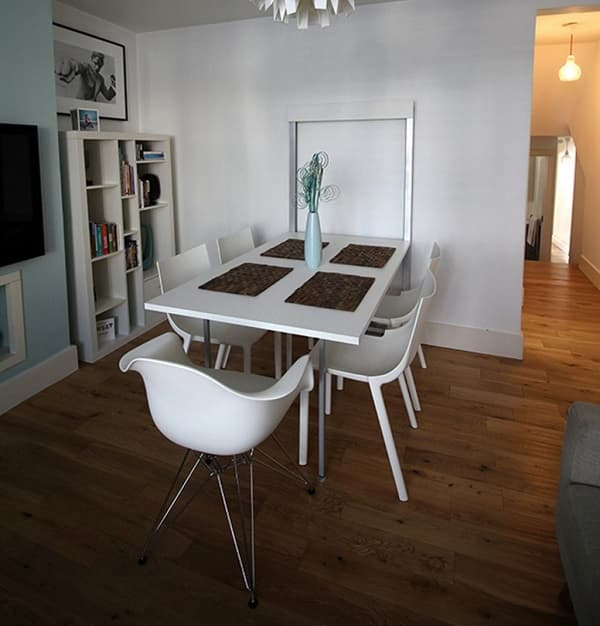 Folding dining table most unique space saver for home improvement - Folding dining room table space saver ...