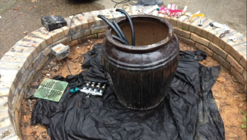 how to make a water feature 7-min