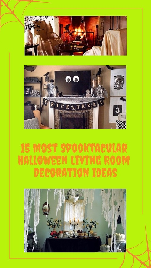 15 Most Spooktacular Halloween Living Room Decoration Ideas