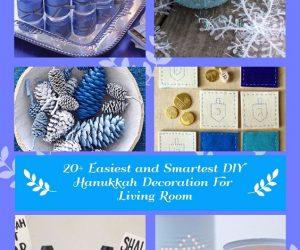 20 Easiest and Smartest DIY Hanukkah Decoration For Living Room (1)