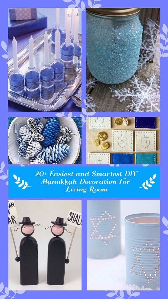 20 Easiest and Smartest DIY Hanukkah Decoration For Living Room (1)