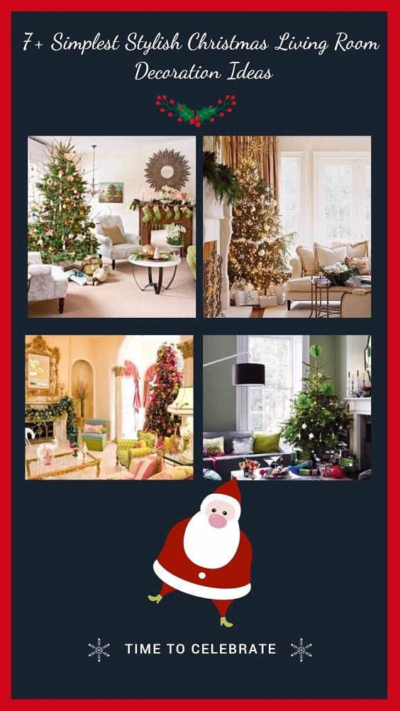 7+ Simplest Stylish Christmas Living Room Decoration Ideas