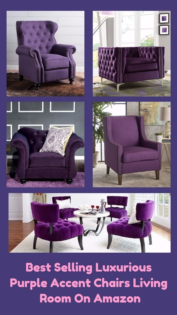 Best Selling Luxurious Purple Accent Chairs Living Room On Amazon