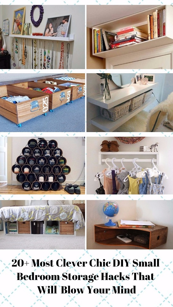 Sensational 20 Clever Chic Diy Small Bedroom Storage Hacks Thatll Blow Download Free Architecture Designs Remcamadebymaigaardcom
