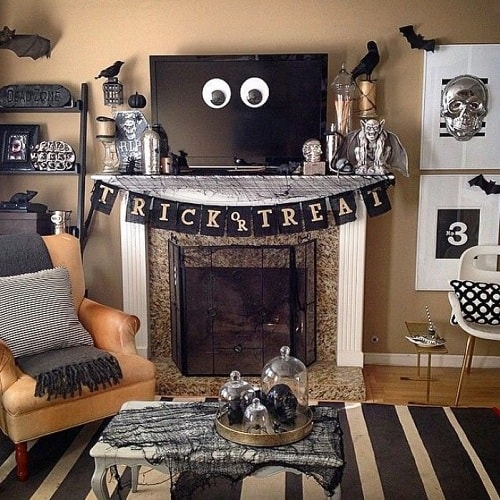 15 Spooky Halloween Living Room Decoration Ideas To Apply