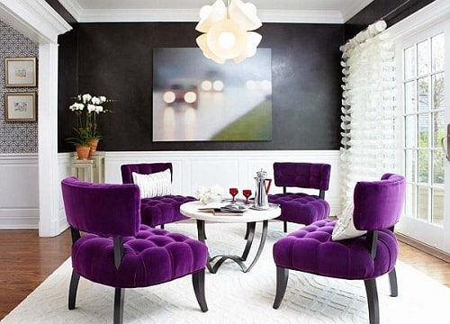 Purple Accent Chair Living Room
