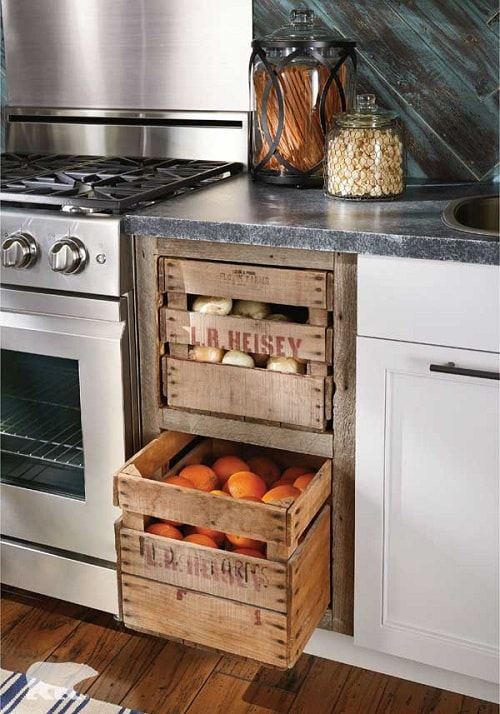 diy farmhouse kitchen organizers 1